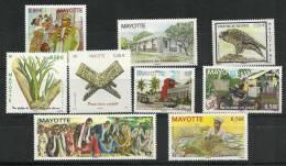 Année Complète 2010.  9 T-p Neufs ** - Mayotte (1892-2011)
