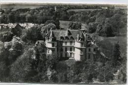 CPSM 91 EN AVION AU DESSUS DE MEREVILLE LE CHATEAU 1953 - Mereville