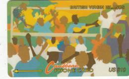 BRITISH VIRGIN ISL.(GPT) - Carnival 2, CN : 17CBVB, Tirage 10000, Used - Islas Virgenes