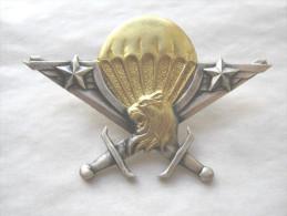 INSIGNE BREVET PARACHUTISTE DU CAMEROUN AVEC ETOILES DRAGO PARIS ETAT EXCELLENT - Army
