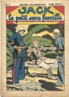 """Fascicule -  """"Jack"""", le petit sans famille - N� 1 - Roger Salardenne - L�Attaque du Train"""