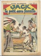 """Fascicule, """"Jack"""", Le Petit Sans Famille - Un Drame Nocturne - Roger Salardenne - N° 15 - Livres, BD, Revues"""