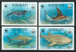 1991 Kiribati WWF Vita Marina Marine Life Pesci Fish Fische Poissons Set MNH** Po137 - Kiribati (1979-...)