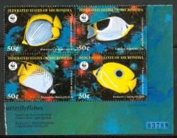 1997 Micronesia WWF Vita Marina Marine Life Pesci Fish Fische Poissons Set MNH** Po133 - Micronesia