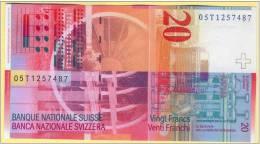 Switzerland 20 Francs Note UNC  ( Svizra Suisse Svizzera Schweizerische ) - Suiza