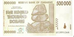 BILLETE DE ZIMBABWE DE 500000 DÓLARES DEL AÑO 2008  (BANKNOTE) SIN CIRCULAR, UNCIRCULATED - Zimbabwe