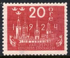 SWEDEN 1924  World Postal Congress 20 öre  LHM / *.  Michel 147 - Sweden