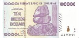 BILLETE DE ZIMBABWE DE 10 BILLION DOLLARS DEL AÑO 2008  (BANKNOTE) SIN CIRCULAR, UNCIRCULATED - Zimbabwe