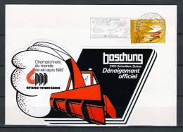 HELVETIA , 01/10/1986 Championnats Du Monde De Ski Alpin - GRANS SUR SIERRE (GA1442) - Winter 1984: Sarajevo