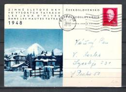 CESKOSLOVENSKO , 15/06/1948  PRAHA  (GA1454) - Winter 1948: St. Moritz