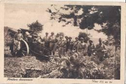 -ARTILLERIE DIVISIONNAIRE Pièce De 155 Au Tir - Neuve TTB - Manoeuvres