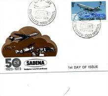 50ème Anniversaire De La SABENA - A L´intérieur Feuillet De Présentation De La Sabena - Postmark Collection