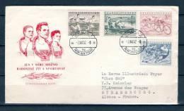 CESKOSLOVENSKO, 02/09/1952 Prvni Den Vydani - PRAHA (GA1636) - Hiver 1952: Oslo
