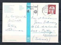 DEUTSCHE BUNDESPOST, 27/08/1972 MÜNCHEN (GA1730) - Hiver 1972: Sapporo