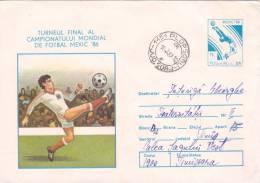 Coupe Du Monde De Football Mexic 1986,covers Stationery,entier Postal Send To Mail, Roumanie. - Coupe Du Monde