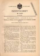 Original Patentschrift - J. Fowler In Auckland , Neuseeland , 1900 , Vorrichtung Für Propellerwellen Von Schiffen !!! - Schiffe