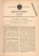 Original Patentschrift - V. Karlson In Göteborg , 1899 , Aussetzen Von Schiffsbooten , Schiff , Boot , Rettungsboot !!! - Boats