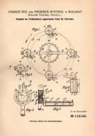 Original Patentschrift - C. Hill In Ballarat , Kolonie Victoria , Australien , 1899 , Pedal Für Fahrräder , Fahrrad !!! - Transport