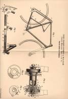 Original Patentschrift - J. Robbins In Waltham , Middlesex , USA , 1899 . Fahrrad - Antrieb Mit Trethebeln !!! - Transportation