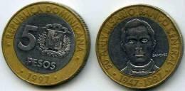 République Dominicaine Dominican Republic 5 Pesos 1997 50 Ans De La Banque Centrale KM 88 - Dominicaine