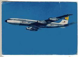 CARTE POSTALE - ALLEMAGNE - AVION - COMPAGNIE AERIENNE - LUFTHANSA - INTERCONTINENTAL JET - BOEING 707 - 1946-....: Moderne