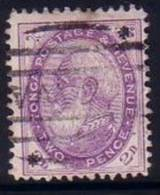 #247 - 1891 Early Tonga SG 8  - 2d Bright Violet With Stars - FU - Cat Val £40.00 - Type 1 - Tonga (1970-...)