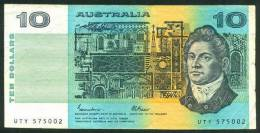 AUSTRALIA , 10 DOLLARS 1985 , P-45e - 1974-94 Australia Reserve Bank (paper Notes)