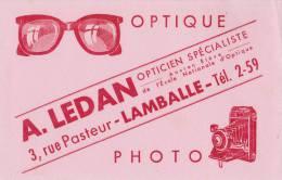 LAMBALLE 22  ( OPTICIEN A LEDAN -  3 RUE PASTEUR )  APAREIL PHOTO  BELLE ILLUSTRATION  TRES BON ETAT  ! ! ! - Blotters