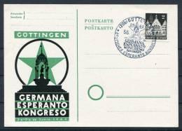 1949 Germany Gottingen Esperanto Congress Card - Esperanto