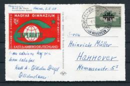 1958 Germany Hungary Esperanto Congress Postcard - Esperanto