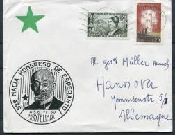1960 Montelimar France Esperanto Congress Cover - Esperanto
