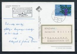 1972 Switzerland Lugano Esperanto Congress Postcard - Esperanto