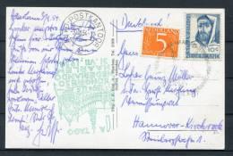 1954 Netherlands Harlem Esperanto Congress Postcard - Auto-Postkantoor Cancel - Esperanto