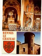 RENNES LE CHATEAU - L'INTERIEUR DE L'EGLISE ET LE CHATEAU - (CPM) - Other Municipalities