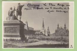 MOSCOU, 1938 : Place Rouge Vue Depuis St Basile Vers Le Kremlin Et Musée Historique. Photo Glacée. 2 Scans. - Rusland