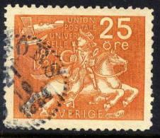 SWEDEN 1924  Universal Postal Union 25 öre  Used.  Michel 163 - Sweden