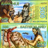 EASTER ISLAND 500 RONGO 2011 POLYMER UNC - Billets