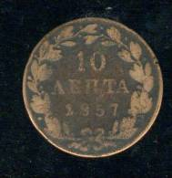 10 Lepta 1857 - Grecia