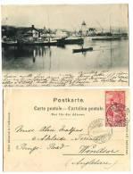 SWITZERLAND 1900 RAZOR Cancel 10c UPU Ouchy U/B Postcard Used - Schweiz