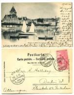 SWITZERLAND 1900 RAZOR Cancel 10c UPU  Ouchy Et Hotel Du Chate - Schweiz