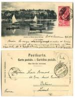 SWITZERLAND 1900 RAZOR Cancel 10c UPU Ouchy Et Hotel Beau-Riva - Schweiz