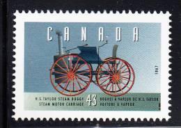 Canada MNH Scott #1490a 43c H.S. Taylor Steam Buggy, 1867 - Historic Land Vehicles 1 - 1952-.... Regno Di Elizabeth II