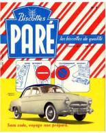 Buvard Biscottes Paré, N°9, Renault Frégate - Biscottes