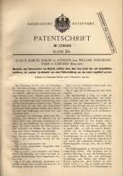 Original Patentschrift - W. Carr In Carlisle Und London , 1900 , Biskuit - Maschine , Biscuit , Conditor , Bäckerei !!! - Tools