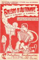 Partition - Boléro D´automne De J. Mallerey Et D. Margelli - 1959 - Partitions Musicales Anciennes