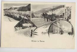 SWITZERLAND  Winter In Davos U/B Postcard Unused - Schweiz