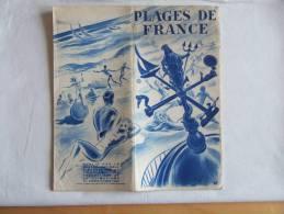 Plaquette. Plages De France Sur 4 Mers.Illustrations, Plans Régionaux, Photos. - Bretagne