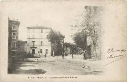 MANOSQUE BOULEVARD DES LICES EN 1900 - Manosque