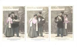 SERIE 5 CPA FANTAISIES :  COUPLE  Et FACTEUR - - Couples