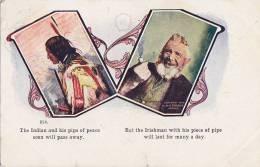 Indiens Amérique Du Nord - Irlande - Irishman - Tabac Pipe - Oblitérée 1907 - Indiens De L'Amerique Du Nord